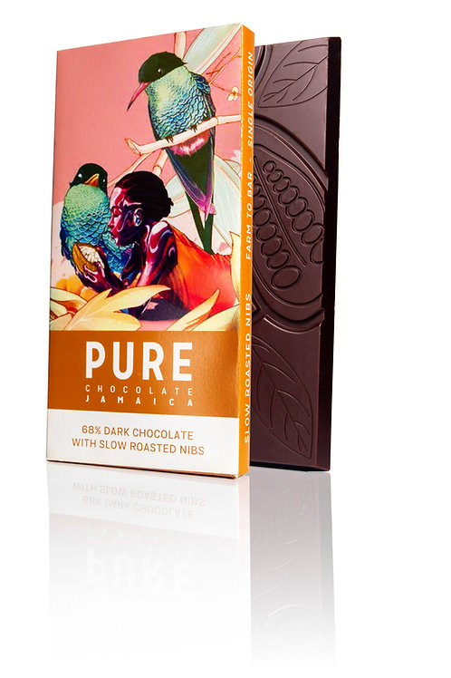 68% PURE Dark Chocolate with Slow Roasted Cocoa Nibs