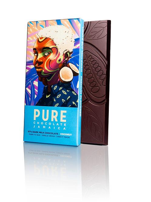 57% PURE Dark Milk Chocolate with Coconut