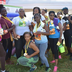 Picture of Linstead Hospital and Regional Office staff during the Tru-Juice Cross Country 5K Run/walk & 20K Cycle on Sunday, June 2, 2019.