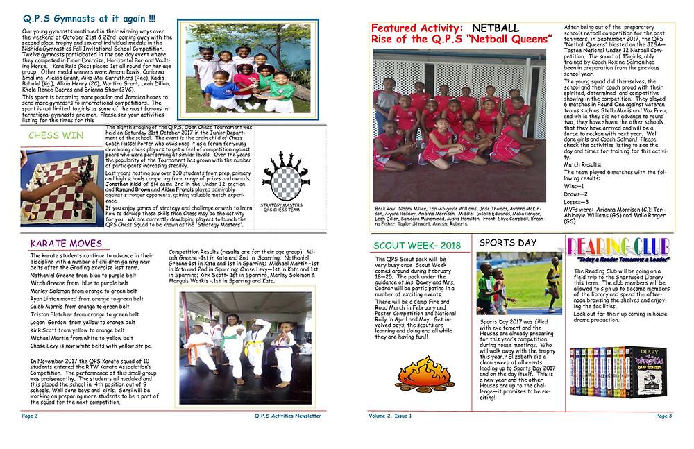 Queen's Prep School Newsletter, top preparatory school in Kingston Jamaica