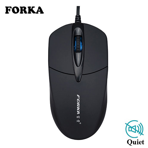 USB Wired Silent Click LED Optical Mouse