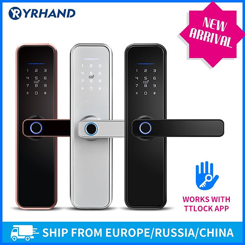 Lock App WiFi Smart Fingerprint Door Lock, Smart Bluetooth Digital Keypad Code