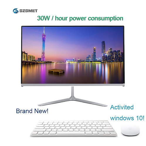 AIO 23.6 Inch Intel i3/i5 Core WiFi PC LCD With Keyboard Mouse Windows 10