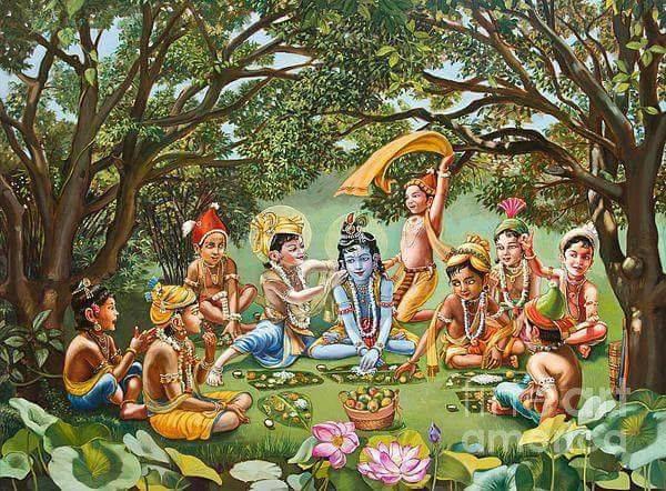 Lord Krishna in Brindavanam