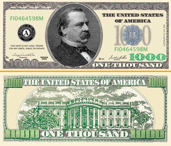USD 1000 Note