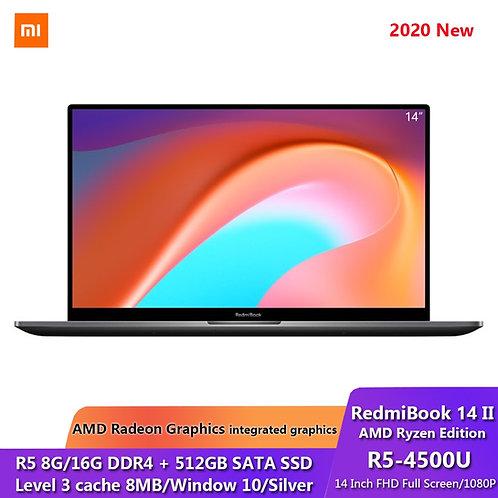 RedmiBook 14 II AMD Ryzen 5 8/16GB DDR4 512GB SSD 14 Inch FHD Screen