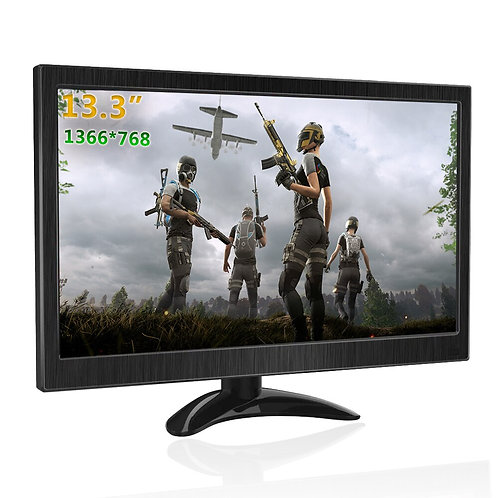 13.3 Inch Portable Monitor HDMI LCD Monitor for PS4 Raspberry Pi Xbox CCTV