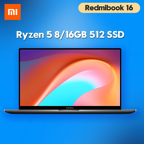 RedmiBook Laptop 16.1 Inch AMD Ryzen5 4500U 8GB/16GB RAM 512GB SATA SSD