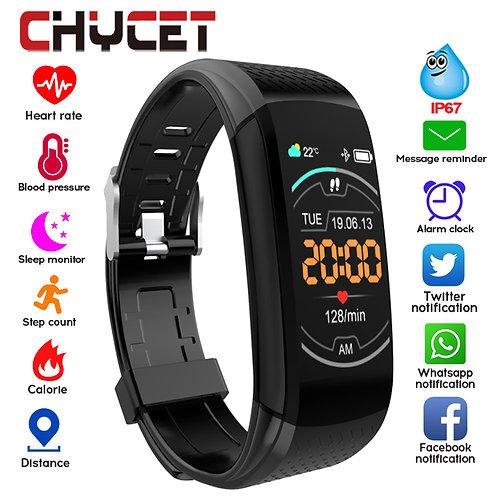 Smart Fitness Bracelet Blood Pressure Measurement Waterproof Heart Rate Tracker