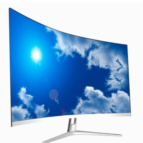 """27"""" 2K White Curved LCD/TFT Monitor PC HD 1920×1080 Curve Panel Display HDMI"""