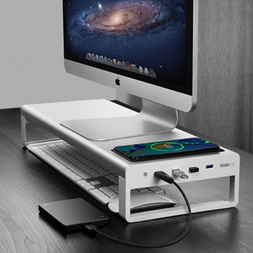 4 USB 3.0 HUB Support Transfer Data Metal Aluminum USB Computer Monitor Stand