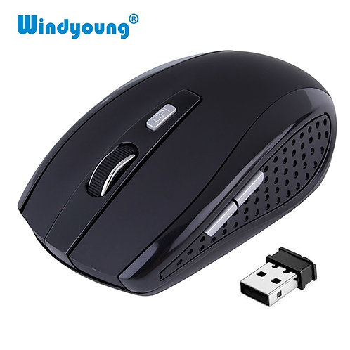 Wireless Mouse Optical Gaming Mouse Portable 2.4GHz Mouse With USB Nano Dongle