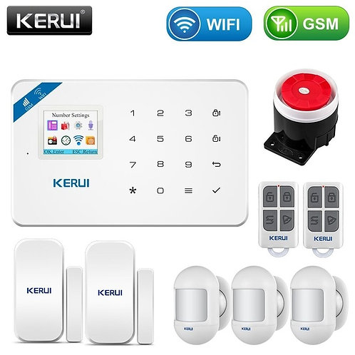 WiFi GSM Smart Home Burglar Security Alarm Motion Detector Smoke Door Sensor