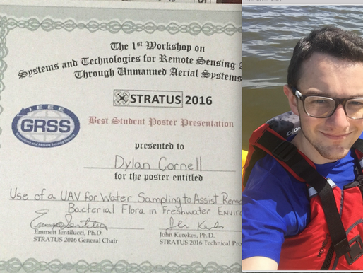 Dylan wins best student poster award at UAV conference