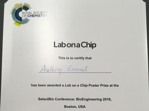 Poster Award at BioEngineering Conference