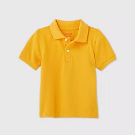 Toddler Boys' Short Sleeve Interlock Uniform Polo Shirt - GOLD