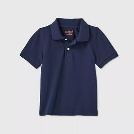 Toddler Boys' Short Sleeve Interlock Uniform Polo Shirt - NAVY