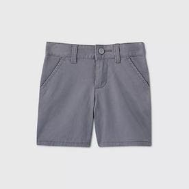 Toddler Girls' Flat Front Stretch Uniform Shorts - GRAY