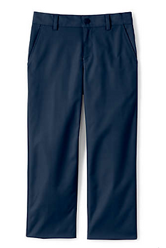 Lands' End Boys Iron Knee Active Chino Pants - NAVY