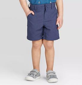 Toddler Boys' Quick Dry Chino Shorts - NAVY