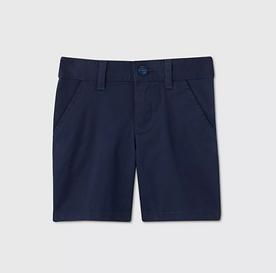 Toddler Girls' Flat Front Stretch Uniform Shorts - NAVY