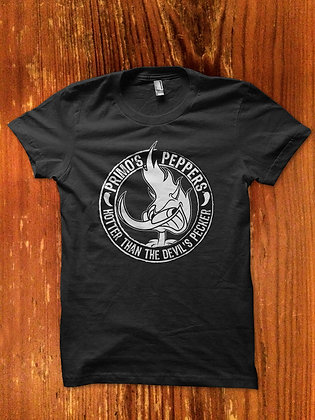 """Primo's Peppers™ """"Hotter Than The Devil's Pecker"""" T-Shirt"""