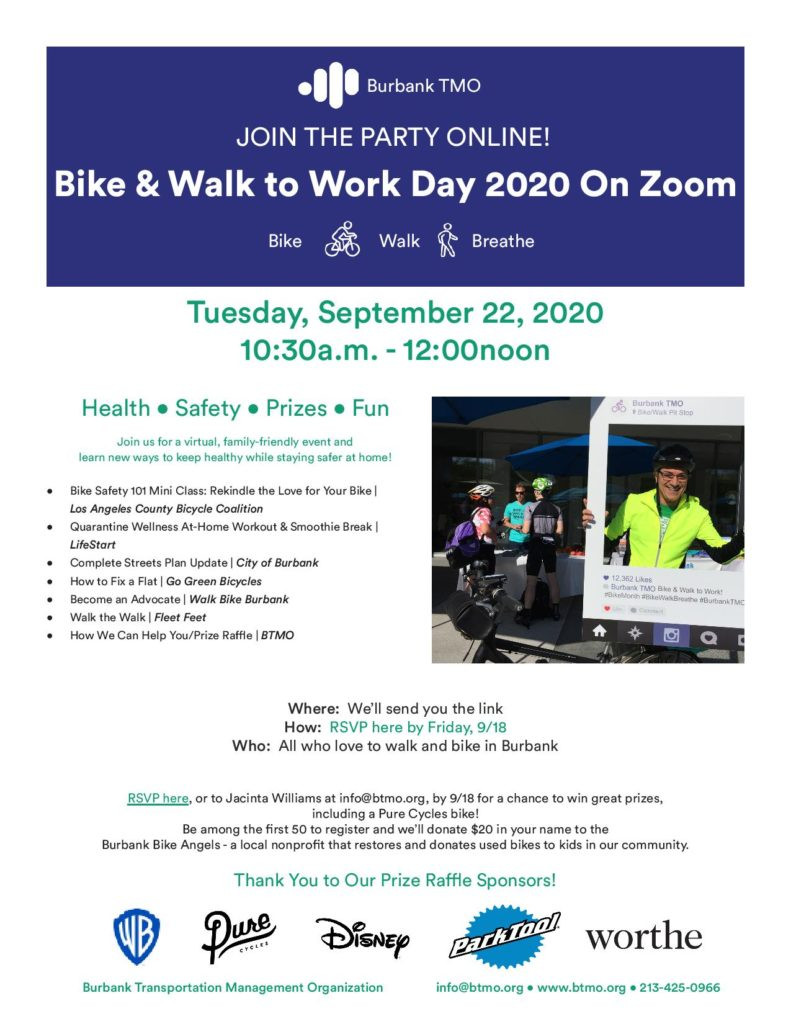 Flyer for Burbank Bike to Work Event