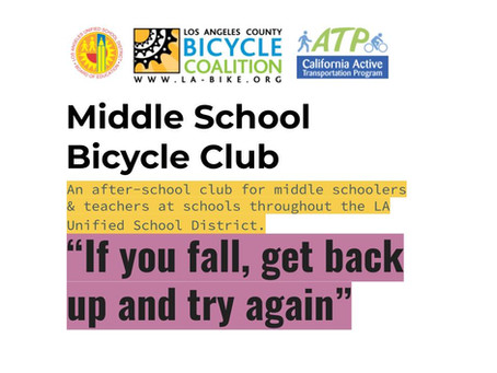 An overdue introduction to the LACBC Middle School Bike Club