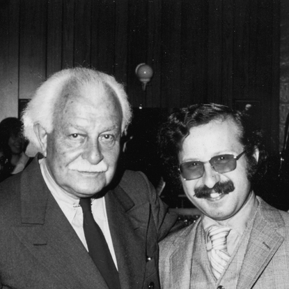Posing with Maestro Arthur Fiedler following  a performance with the Boston Pops (Boston, USA, 1979)