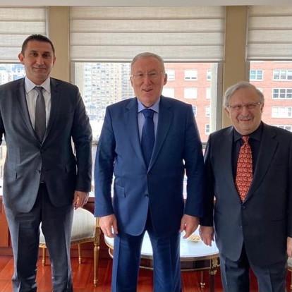 Meeting with Consul General Özgür and  Ambassador Mercan (New York, USA, 2021)