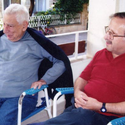Musing with poet Zahrad  (Istanbul, Turkey, 2002)