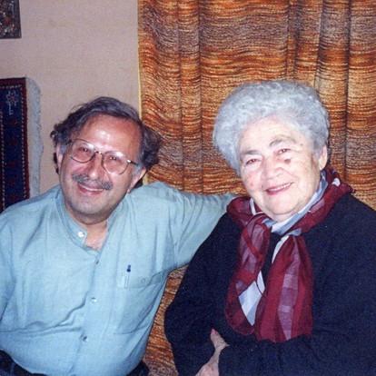 Happy with poetess Silva Kaputikyan (Yerevan, Armenia, 2002)