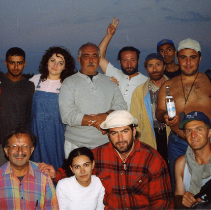 "A group photo with crew of the film ""Akhtamar""  (Shoghakat, Armenia 2004)"