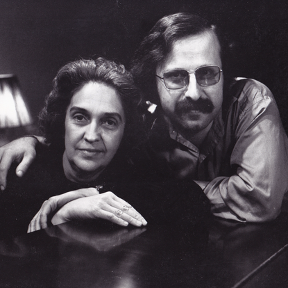 Joining violinist Anahid Ajemian  (New York, USA, 1974)