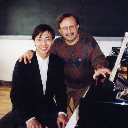 During a master class at the Beijing Central Conservatory  (Beijing, China, 2001)
