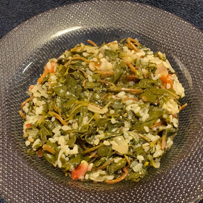 Purslane with Rice