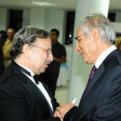 The Dean of Van 100th Year University congratulating after a concert  (Van, Turkey, 2010)