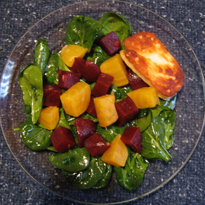 Baby Spinach with Beets