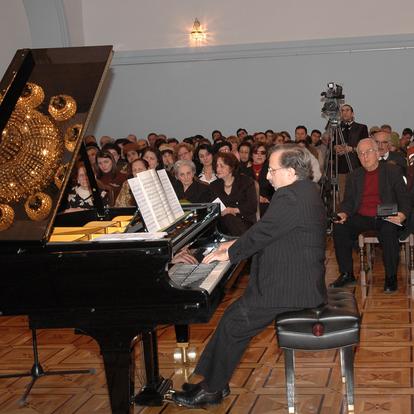 Performing at the Khachaturian House-Museum (Yerevan, Armenia, 2007)