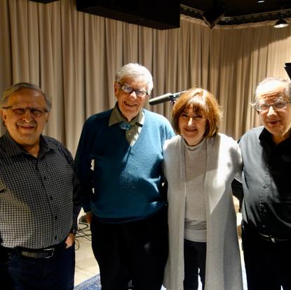 At the WQXR studio with host Robert Sherman, violinist Ani Kavafian and clarinetist Charles Neidich  (New York, USA, 2020)