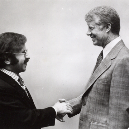 Meeting with President Carter at the White House (Washington, D.C., USA, 1979)