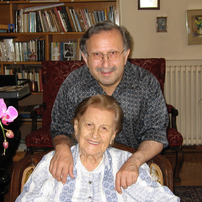 Together with my aunt and mentor composer Sirvart Karamanuk  (Istanbul, Turkey, 2007)