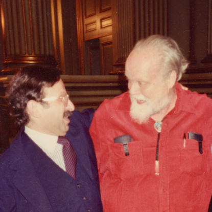Bantering with composer Lou Harrison  (New York, USA, 1998)