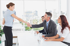 Staffing Agency Employee Interviewing With A Hiring Manager