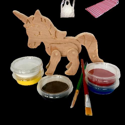 Wapiyon Ahşap Unicorn Boyama Kiti (+3 Yaş)