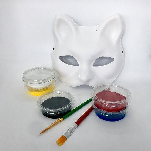 Wapiyon Kedi Maske Boyama Kiti (3 yaş ve üzeri)