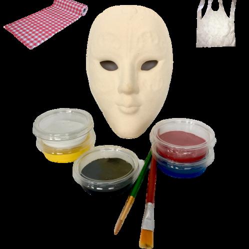 Wapiyon Yüz Maske Seramik Boyama Kiti (3 yaş ve üzeri)