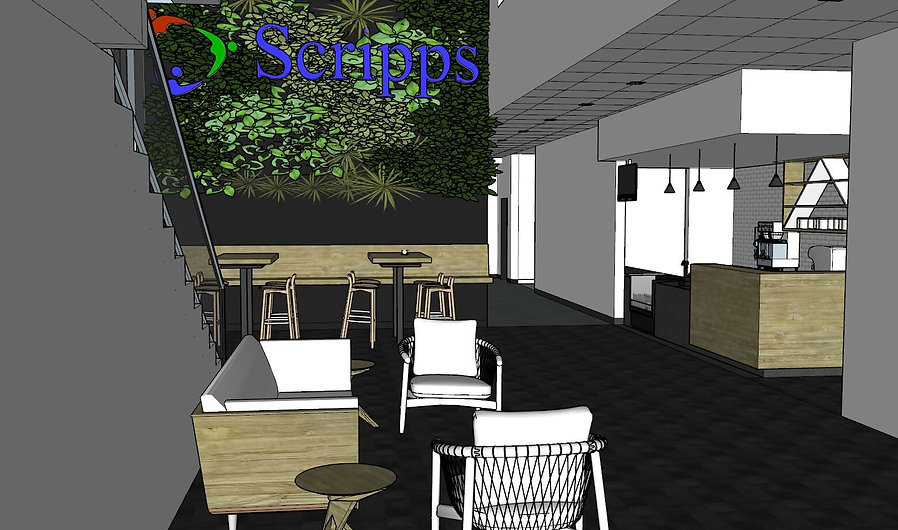 Scripps Health Colors Cafe and lobby designed by Paschall Design.