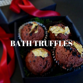 Bath Truddles & Slick Bricks - delightful single serving bath bombs for ladies and gents!