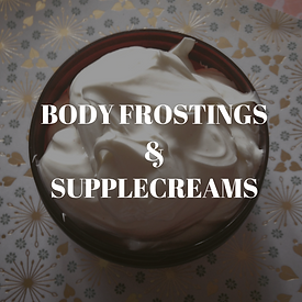 Body Frostings & Body Balms- rich botanical moisturizers to tone and soothe the skin